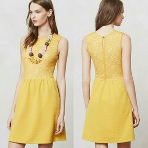 [Anthropologie] Marigold Lace Fit and Flare Dress